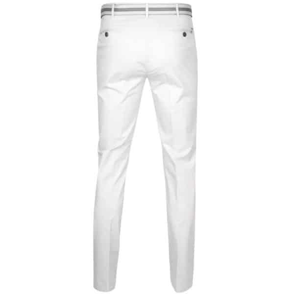 Meyer Rio White Cotton Chinos back