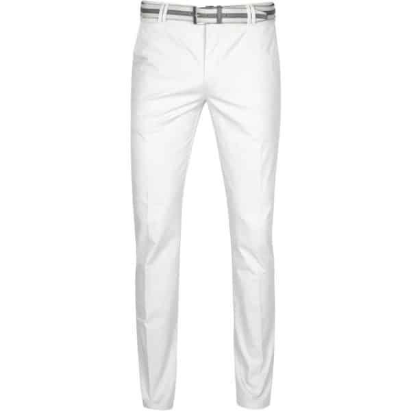 Meyer Rio White Cotton Chinos front