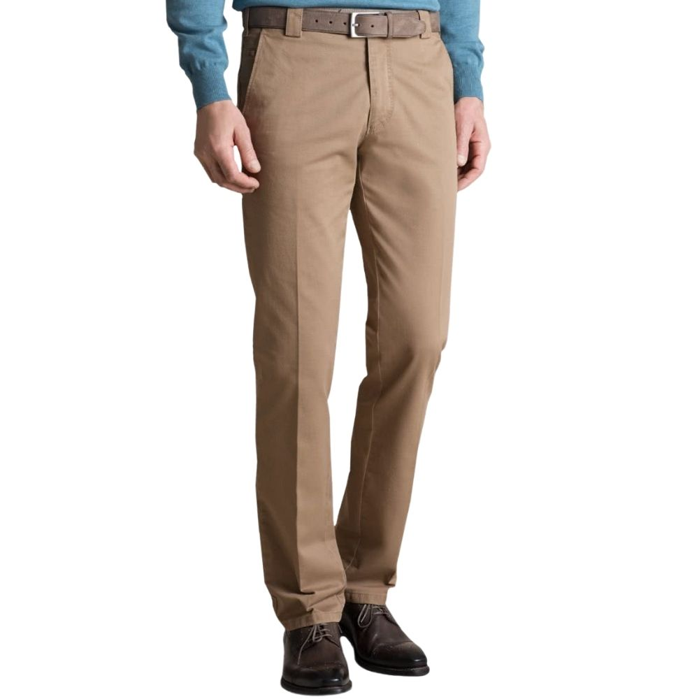 Meyer Roma Camel Cotton Chinos Front 2
