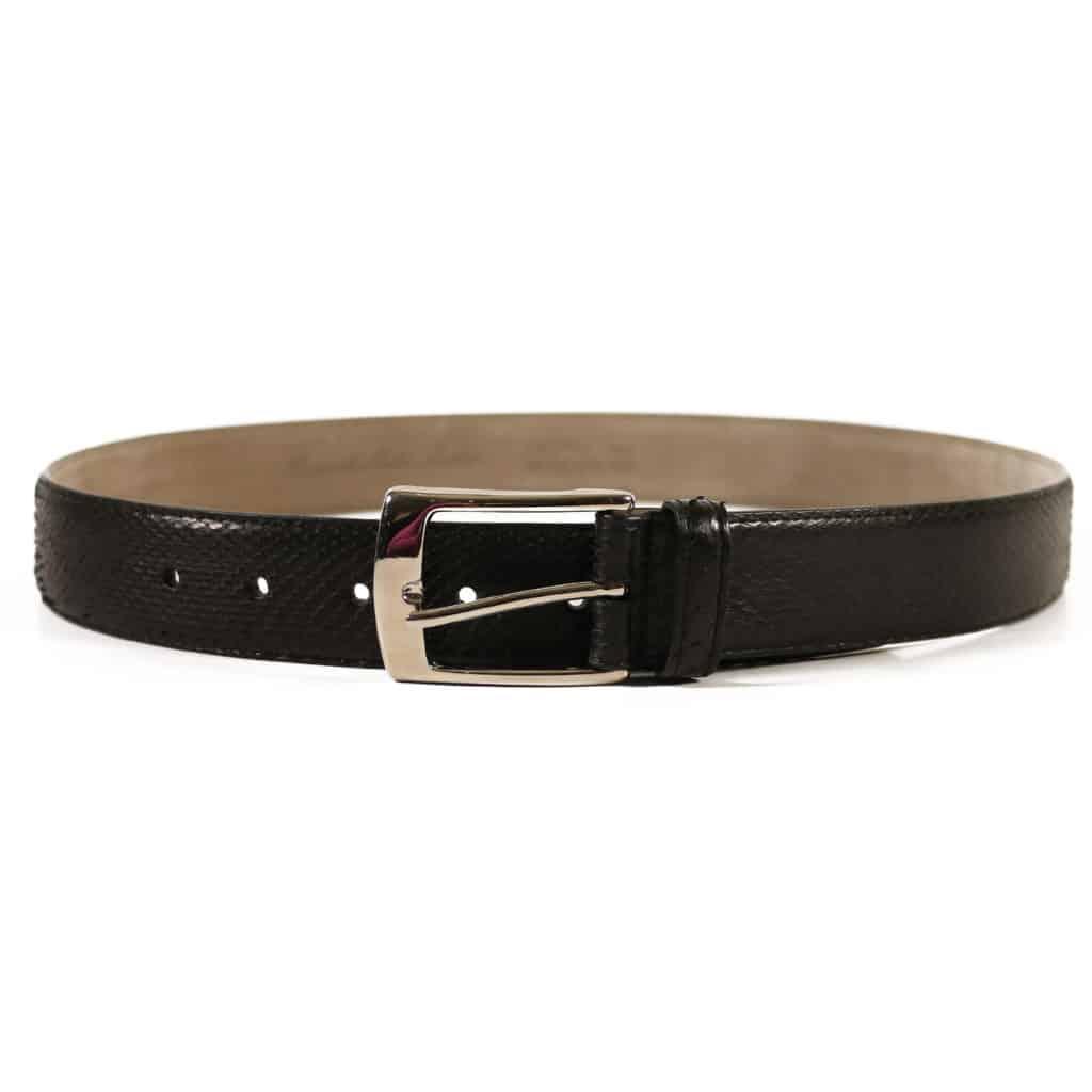 black snake leather belt2