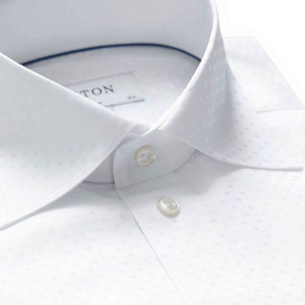 eton shirt white polka dot weave contemporary fit shirt 02