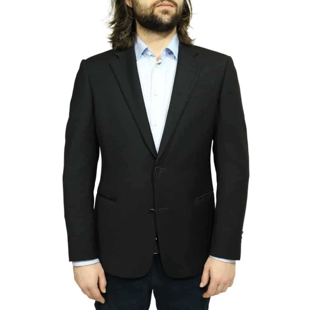 Armani black blazer jacket front