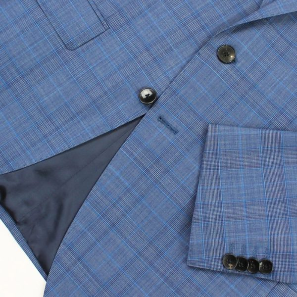 Boss blue suit jacket with check pattern 2