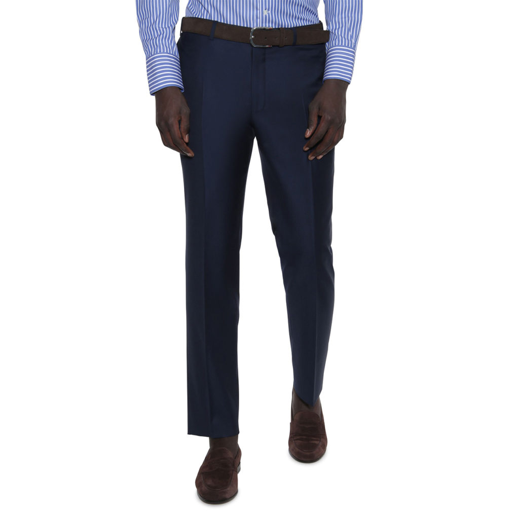 CANALI FORMAL WOOL TROUSERS IN NAVY front business