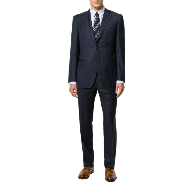 CANALI NAVY PINSTRIPE SUIT 2