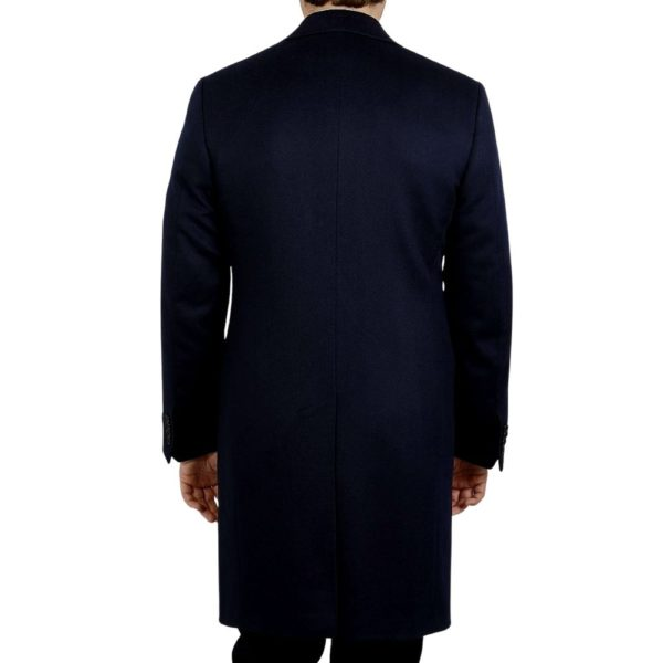 CANALI NAVY WOOL CASHMERE OVERCOAT 1