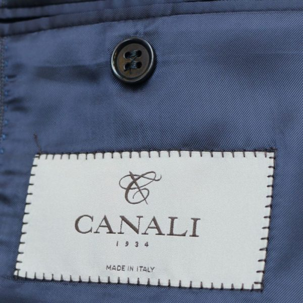 CANALI NAVY WOOL CASHMERE OVERCOAT 2