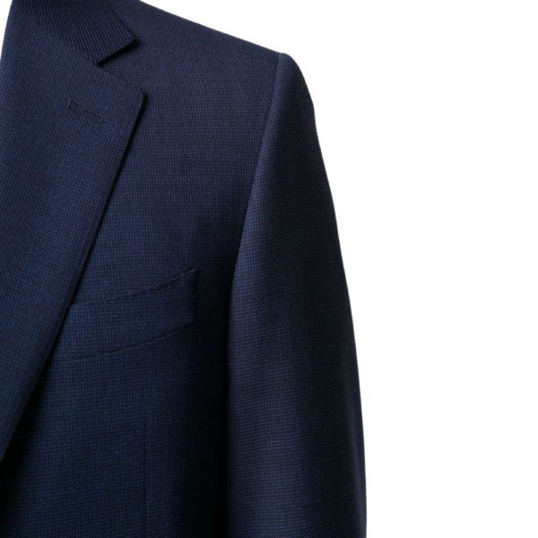 CANALI PURE WOOL MICRO CHECK IN ROYAL BLUE2