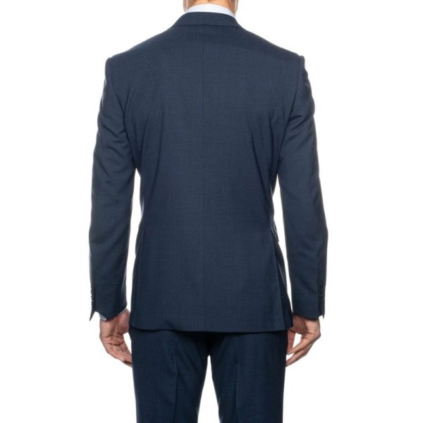 CANALI SUIT MICRO DETAIL MID BLUE 3