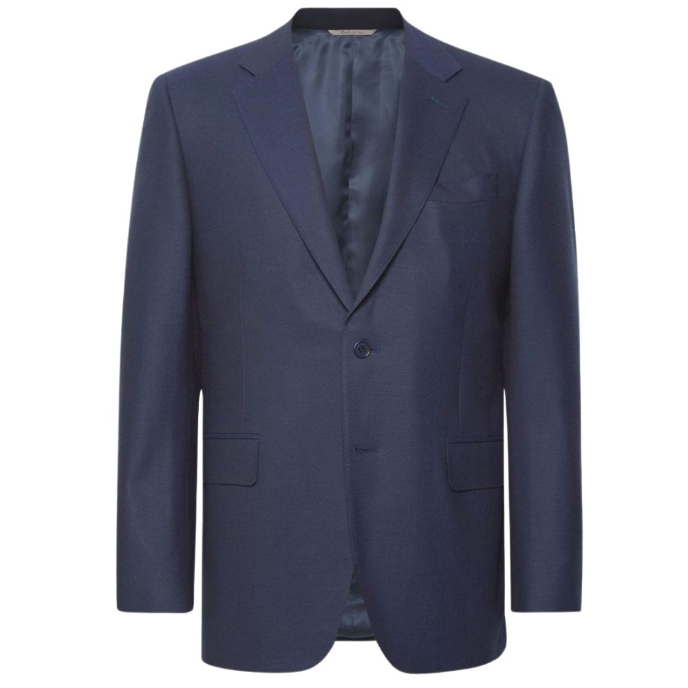 Canali Silk and linen blend jacket in Marine Blue