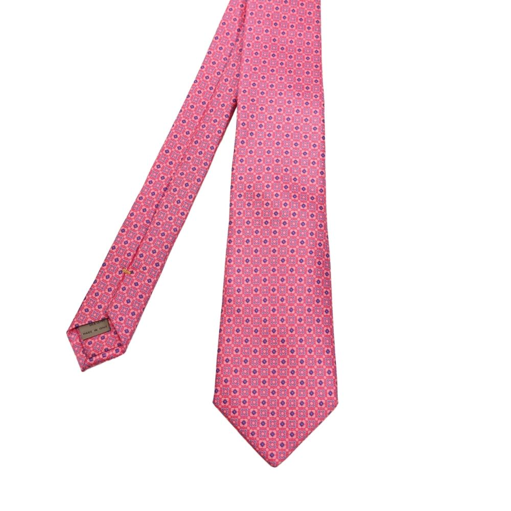 Canali Squares and Diamonds Tie Pink 2