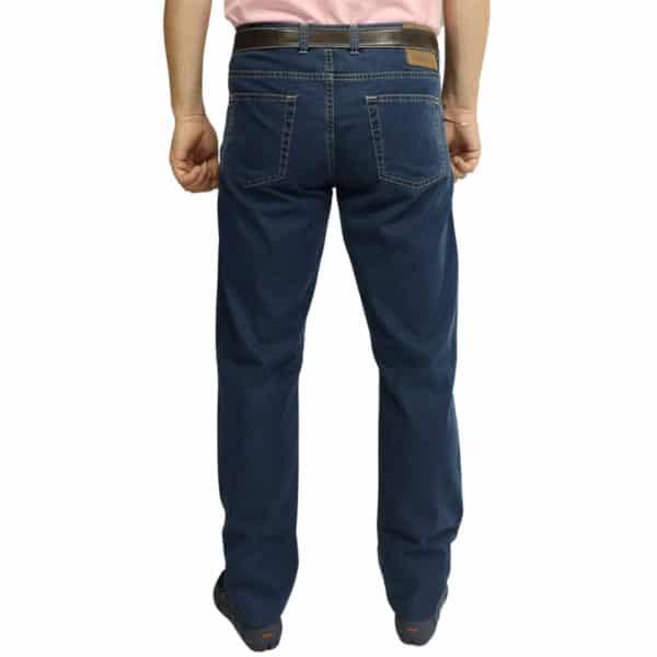 Canali jeans navy back