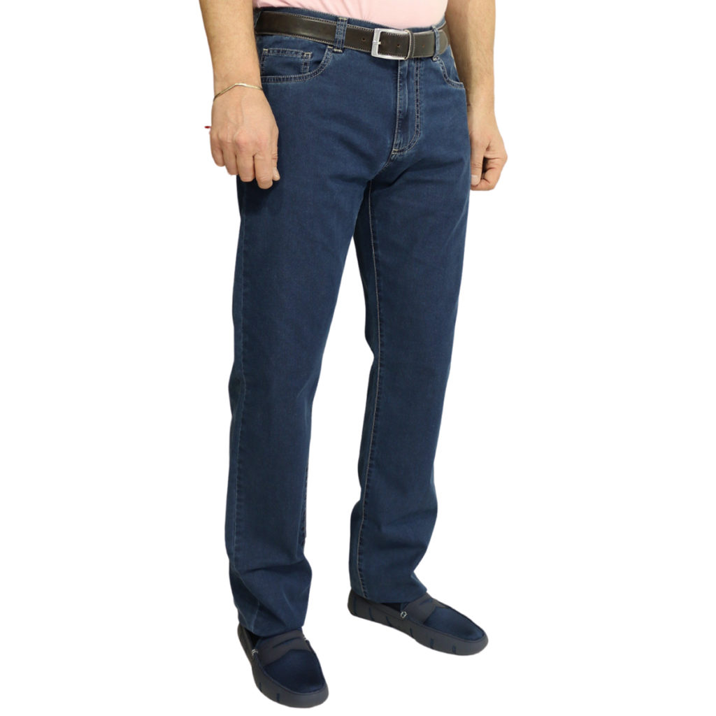 Canali jeans navy front