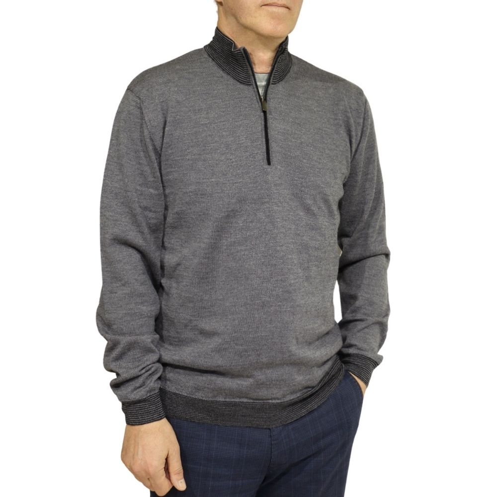 Codice sweater half zip dark grey 2