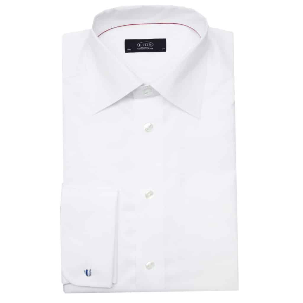 Eton shirt french round cuff classic white