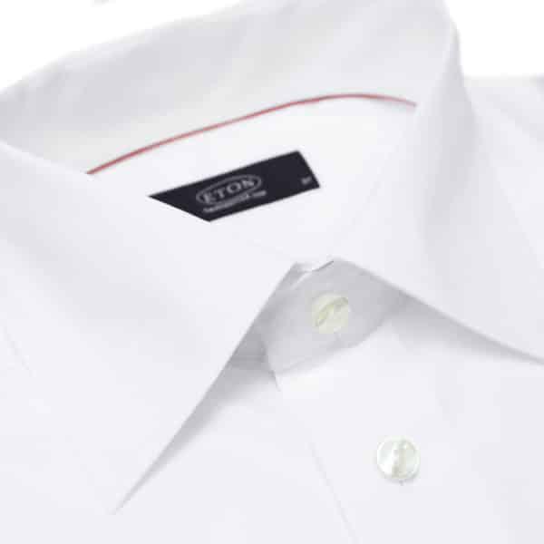 Eton shirt french round cuff classic white collar