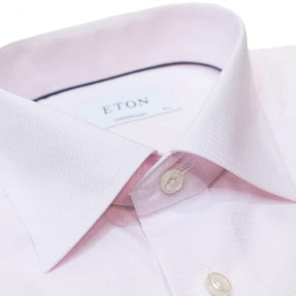 Eton shirt pink textured collar