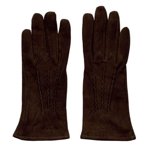 Gant Gloves suede black cofee