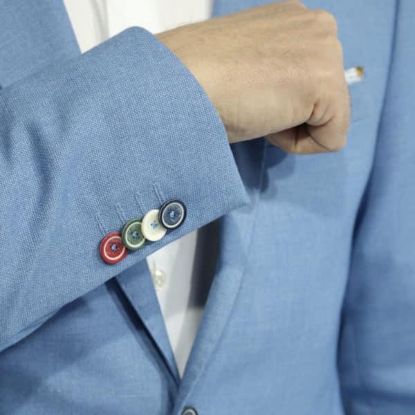 Giordano blue blazer jacket button details