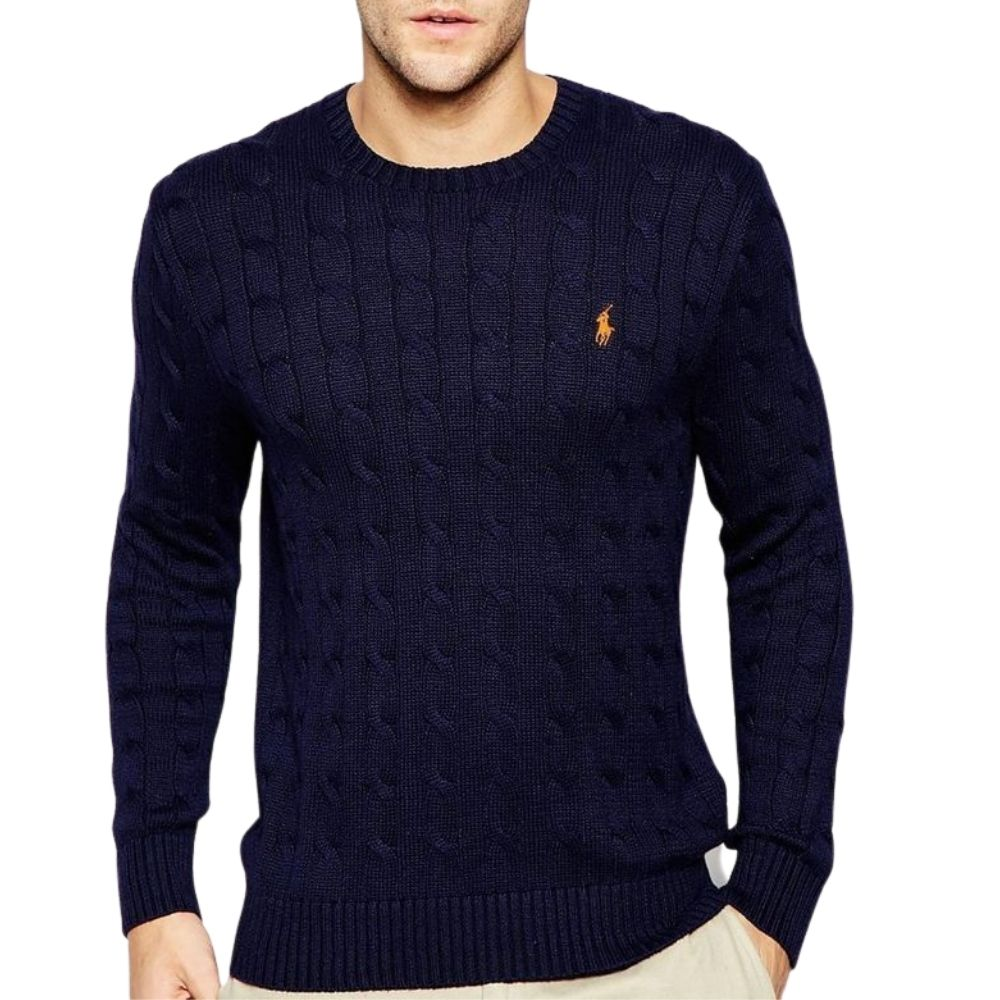 POLO RALPH LAUREN NAVY Cable Knit JUMPER 1