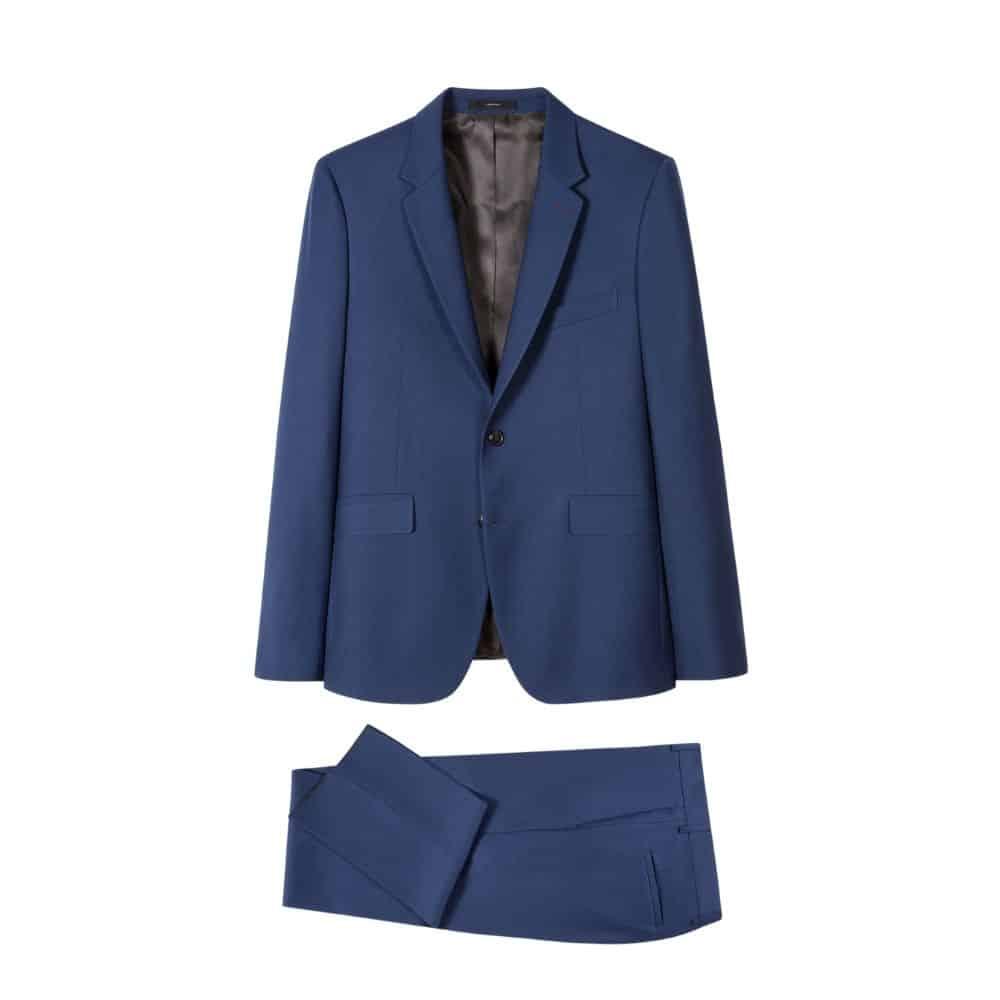 Paul Smith Mens Slim Fit Cobalt blue Wool Mohair Suit all