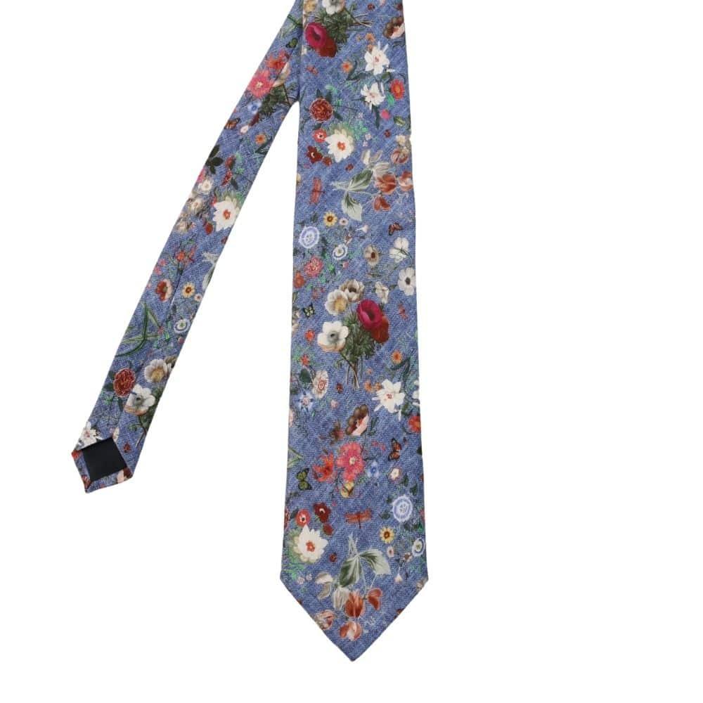 Van Buck Floral Tie Blue 2