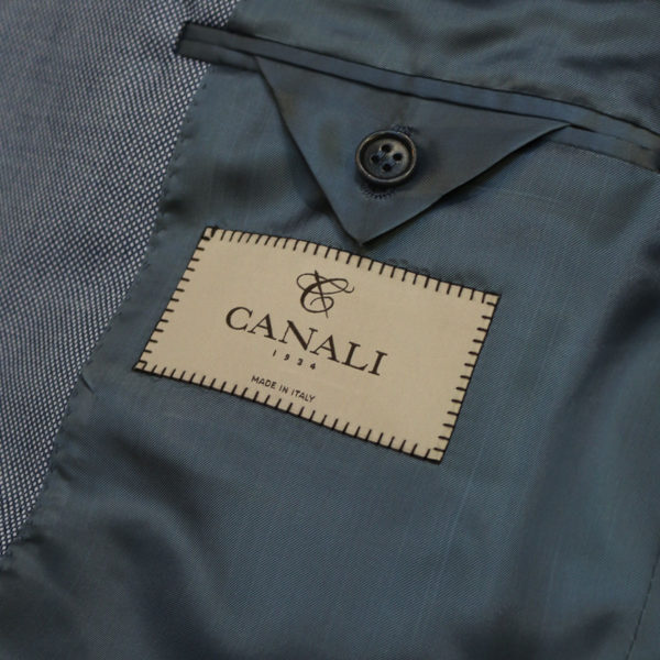 canali suit blue lining
