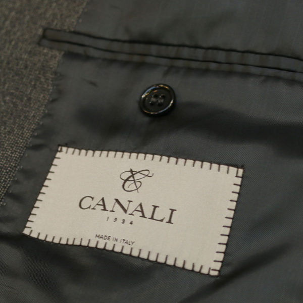 canali suit charcoal lining2