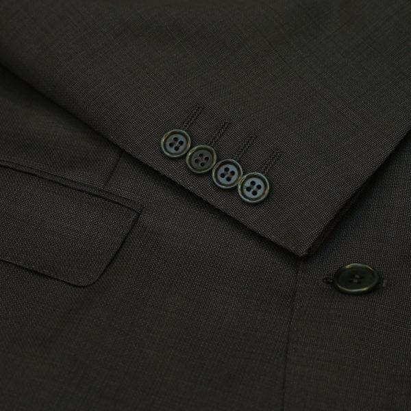 canali suit gray button detail
