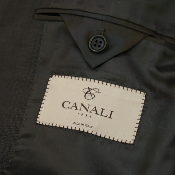 canali suit gray lining