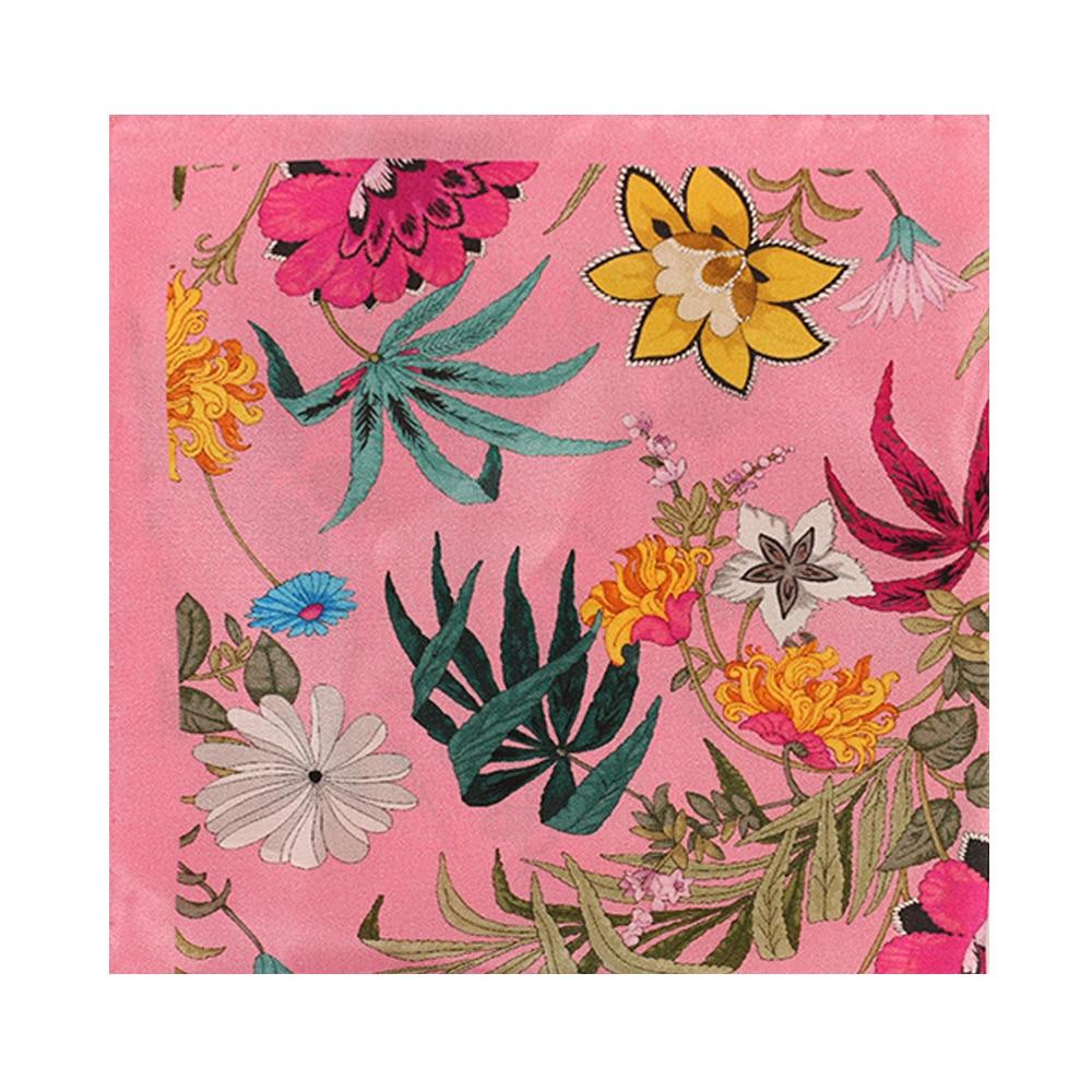 Amanda Christensen pocket square pink flower print main
