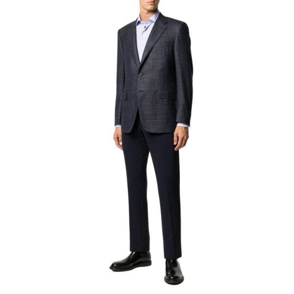 CANALI MICRO WEAVE JACKET IN NAVY1