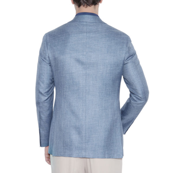 Canali Kei jacket light blue back