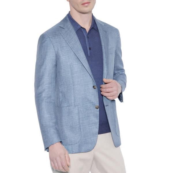 Canali Kei jacket light blue side