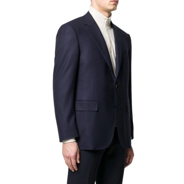 Canali classic wool smart jacket side view