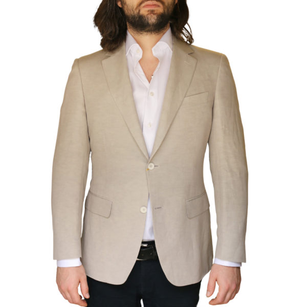 Canali jacket beige front2