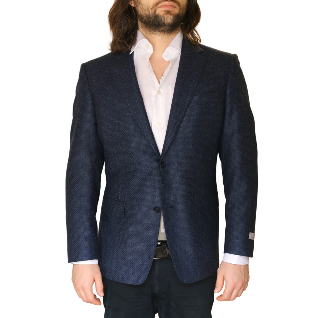Canali jacket navy front