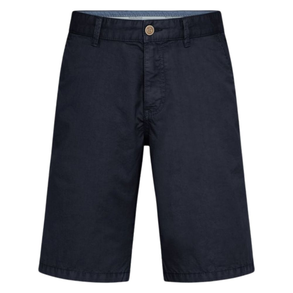 FYNCH HATTON Casual Fit Pure Cotton Shorts in Navy front