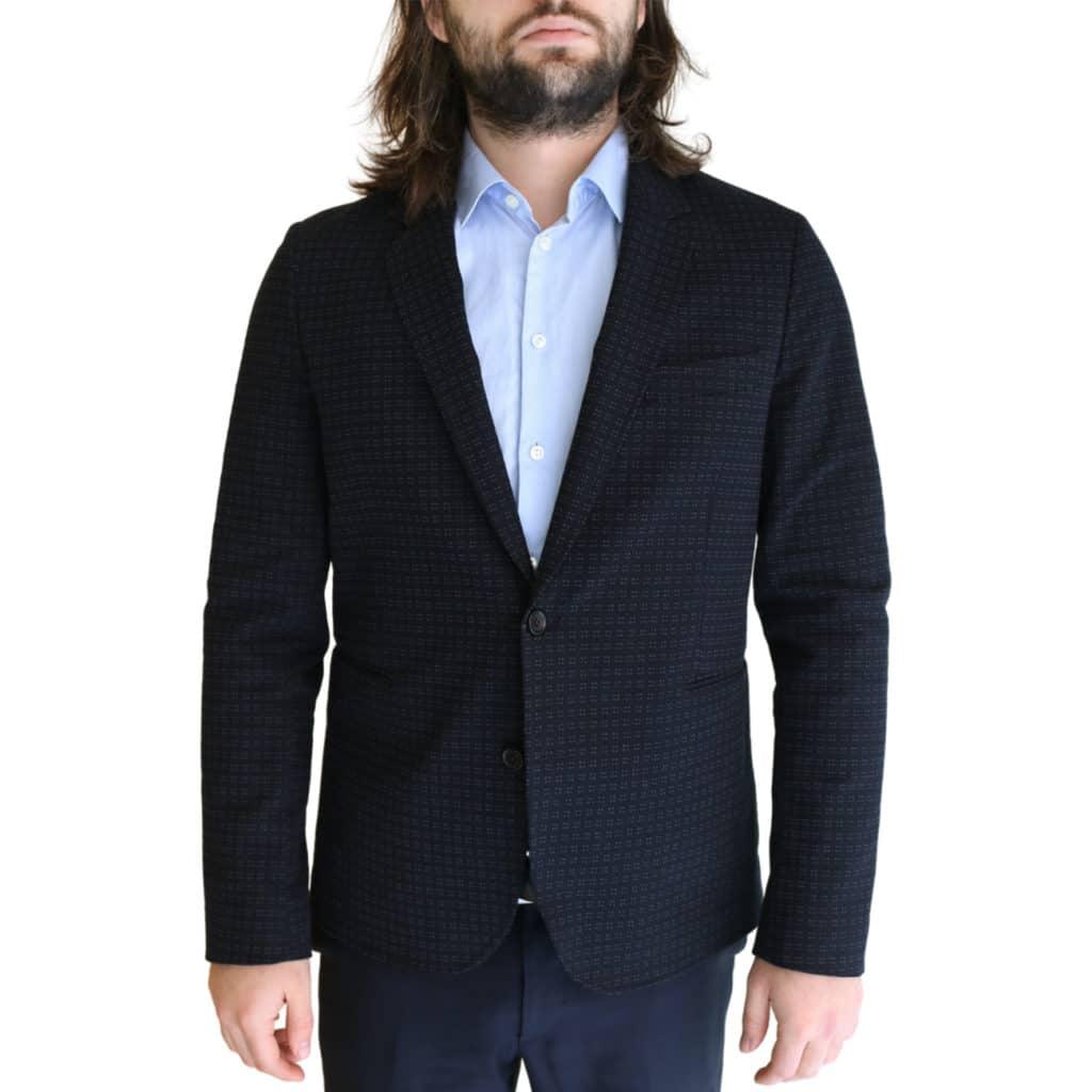 Paul Smith jacket dark navy dots