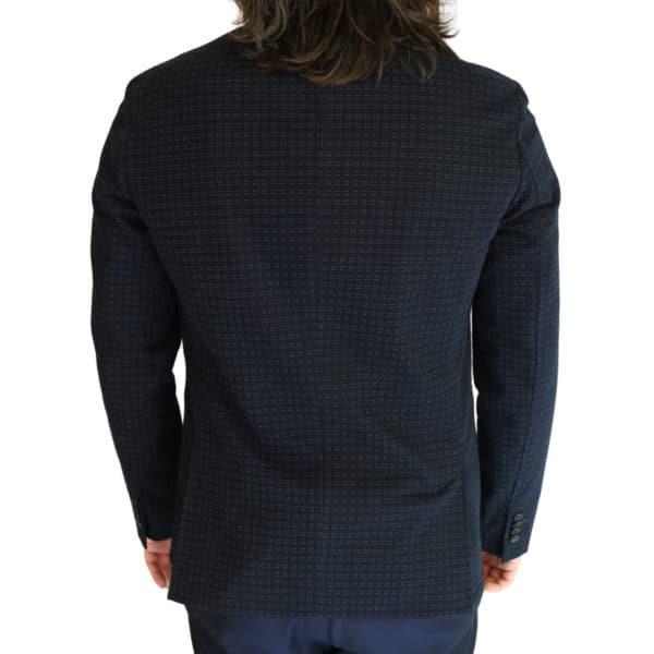 Paul Smith jacket dark navy dots back