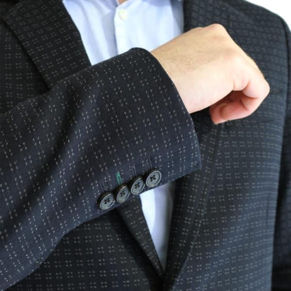 Paul Smith jacket dark navy dots buttons