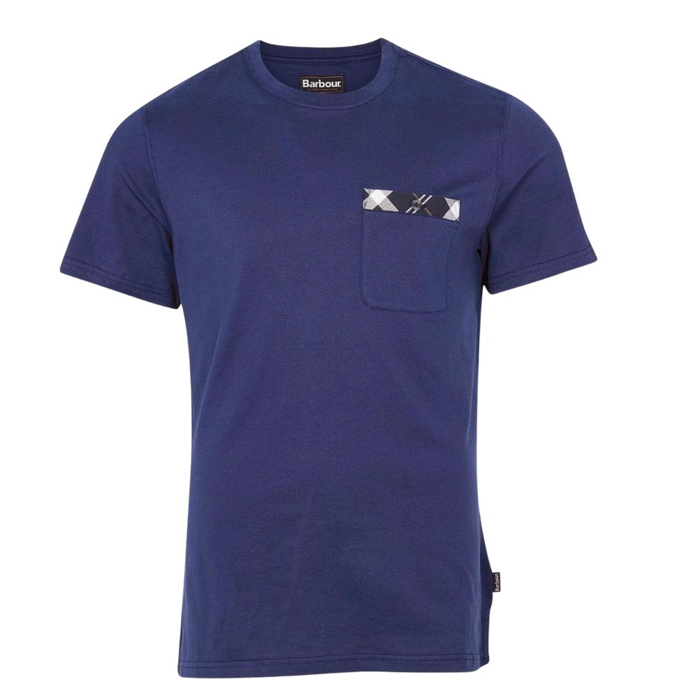 BARBOUR BRYCE T SHIRT in Blue front