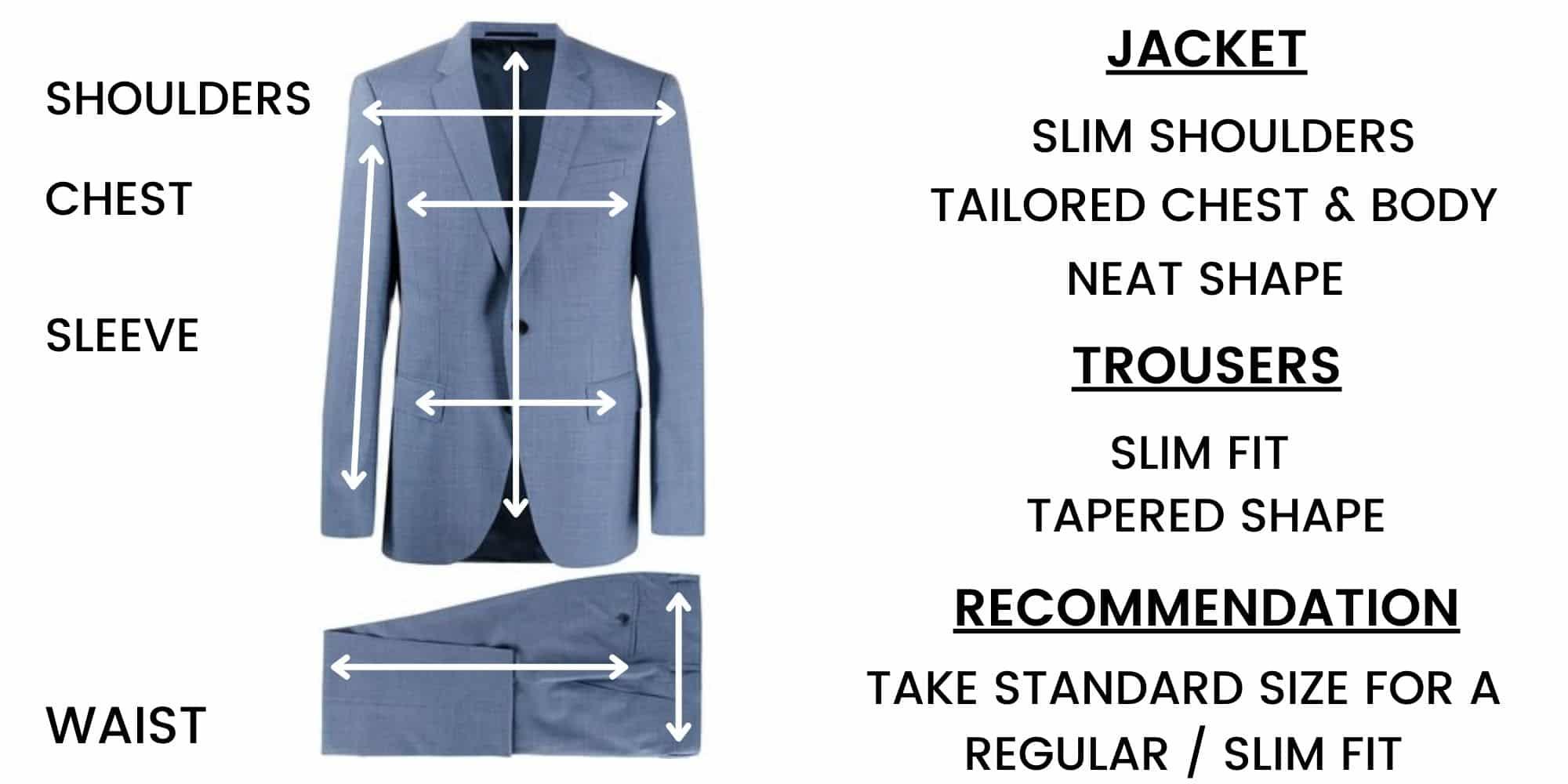 Boss Suits – Size Chart