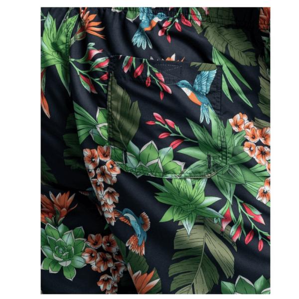 GANT Classic Fit Humming Garden Print Swim Shorts PATCH