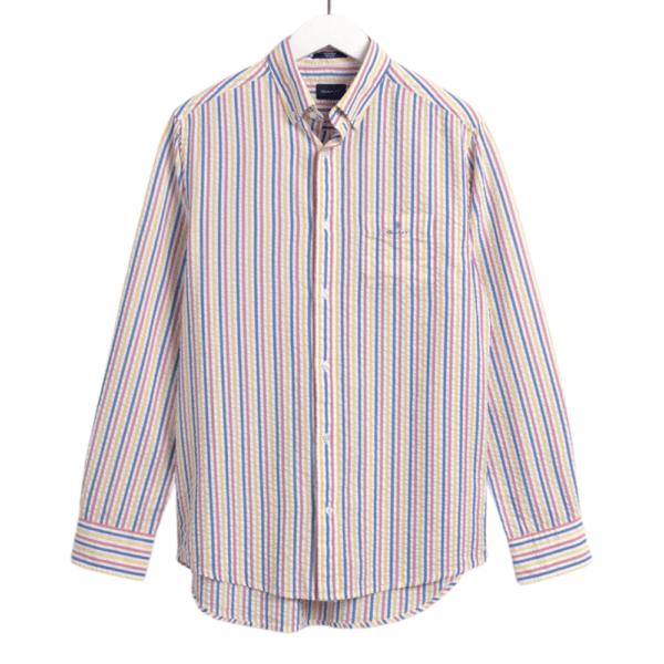 GANT Regular Fit Tech Prep™ Seersucker Multi Stripe Shirt Front 1