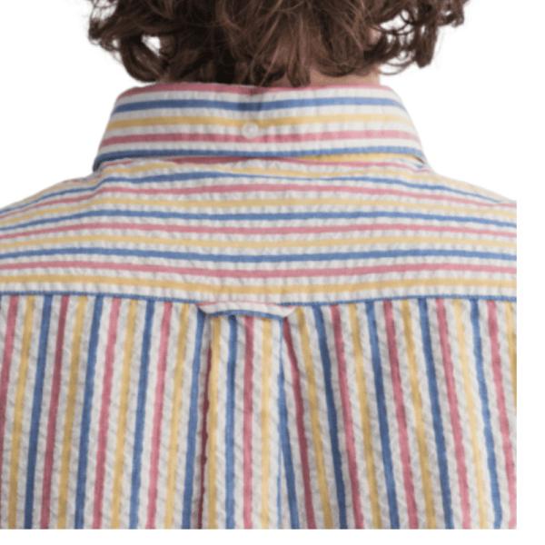 GANT Regular Fit Tech Prep™ Seersucker Multi Stripe Shirt rear
