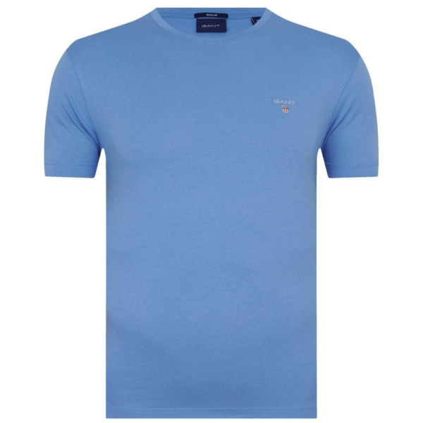 GANT SHORT SLEEVE T SHIRT IN PACIFIC BLUE front
