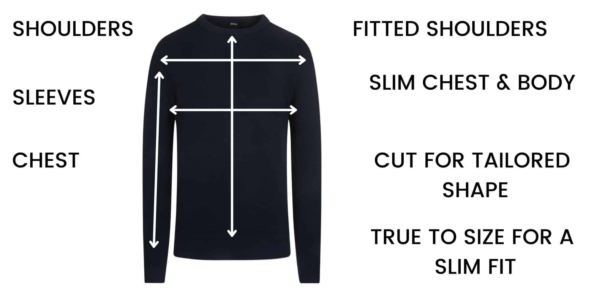 Boss Knitwear/Sweatshirt Chart