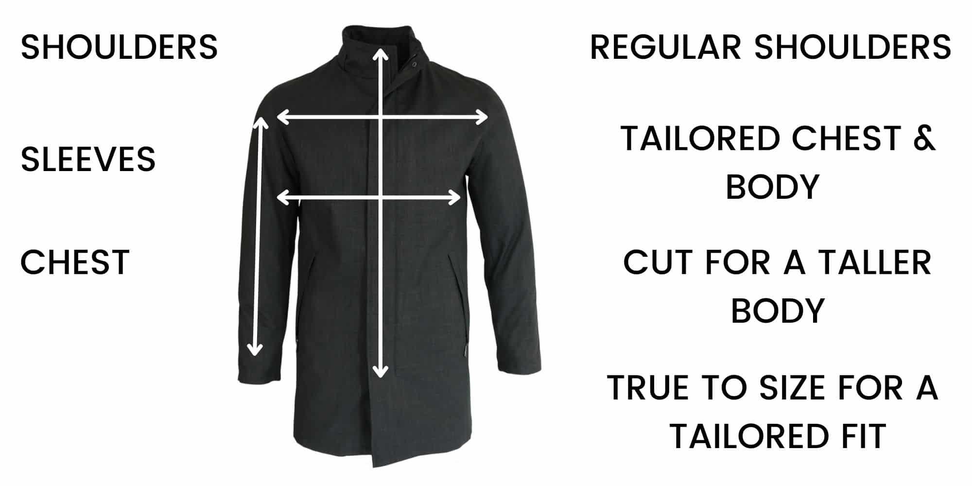Bugatti Overcoats/Raincoats Size Guide