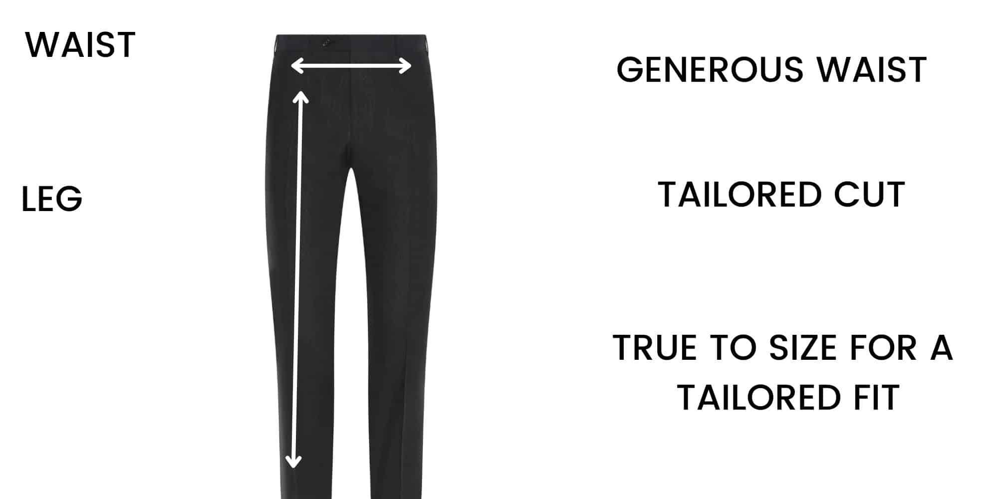 Canali trousers Size Chart